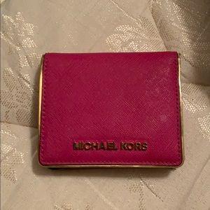 Michael Kora pink & gold wallet